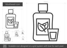 Mouthwash line icon. Stock Images