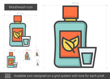 Mouthwash line icon. Royalty Free Stock Photography