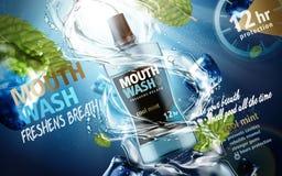 Mouthwash product ad Stock Photography