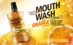 Mouthwash product ad Royalty Free Stock Photography