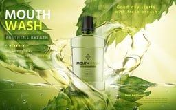 Mouthwash produktu reklama ilustracji