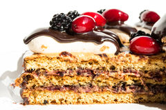 Mouthwatering cake slice. This is a photo of the Mouthwatering cake slice Stock Photography