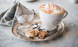 Mouthwatering Italian Cinnamon Capuccino Stock Photos