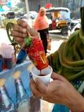 Mouthwatering magische indische Eissüßigkeit lizenzfreie stockfotos