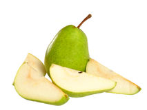 Mouthwatering pear isolated on white Stock Images