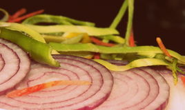Mouthwatering. This plate of salads got even more mouthwatering when was clicked Stock Image