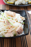 Mouthwatering rice vermicelli with chunks of tuna Stock Image