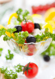 Mouthwatering salad with feta and cherry tomatoes Royalty Free Stock Image