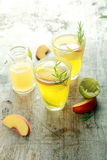 Mouthwatering Yellow Fruit Juices Stock Images