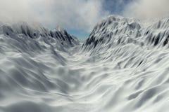 Mouting pass in snow mountain Royalty Free Stock Photo