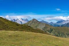 Moutnain de las dolom?as de Italia - Passo di Giau en el Tyrol del sur imagen de archivo
