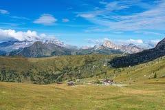 意大利白云岩moutnain - Passo di Giau在波尔扎诺自治省 免版税库存图片