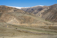 Moutnain scenery. The landscape of Yela Mountain in Tibet, China Stock Photos