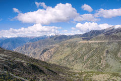 Moutnain scenery. The landscape of Yela Mountain in Tibet, China Royalty Free Stock Photo