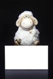 Moutons avec la carte vierge Photo stock