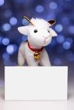 Moutons avec la carte vierge Photographie stock