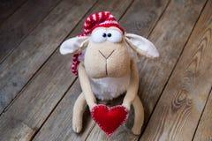Moutons avec le coeur Photographie stock libre de droits