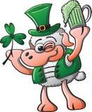 Moutons célébrant le jour de Patricks de saint Images stock