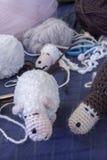 Moutons d'Amigurumi Image libre de droits