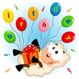 Moutons d'anniversaire illustration stock