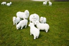 Moutons de bande dessinée Photo libre de droits