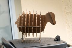 Moutons de décoration Photo stock