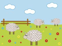 Moutons de ferme illustration de vecteur