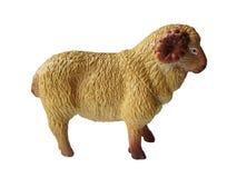 Moutons de jouet d'isolement sur le fond blanc Image stock