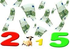Moutons de la nouvelle année 2015 illustration libre de droits