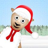 Moutons de Noël Image libre de droits
