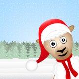 Moutons de Noël Photos libres de droits