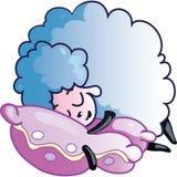 Moutons de sommeil illustration libre de droits
