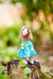 Moutons de textile faits main Images libres de droits