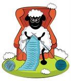 Moutons de tricotage de bande dessinée Photo libre de droits