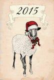 Moutons de vintage illustration de vecteur