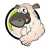 Moutons drôles de dessin animé Photo libre de droits