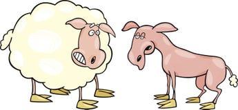 Moutons effrayés et rasé illustration libre de droits