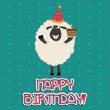 Moutons heureux Photos stock