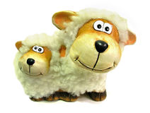 Moutons indiscrets curieux Image stock