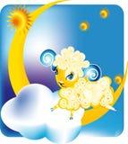Moutons le mois Image stock
