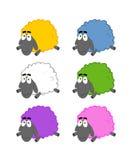 Moutons multicolores illustration libre de droits
