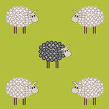 Moutons noirs illustration stock