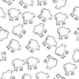 moutons par derrière l'icône dans le style de modèle Élément d'icône de moutons pour les apps mobiles de concept et de Web Mouton illustration stock