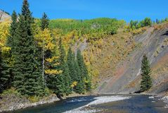 Moutons River Valley en automne Photos libres de droits