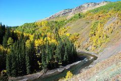 Moutons River Valley en automne Images libres de droits