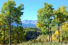 Moutons River Valley en automne Photos libres de droits