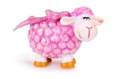Moutons roses de jouet Images libres de droits