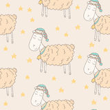 Moutons somnolents Image libre de droits
