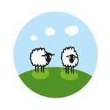 Moutons sur le champ illustration libre de droits