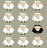 Moutons (vecteur) Image stock